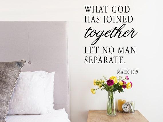 Wat God heeft samengevoegd laat geen man scheiden Muur | Etsy