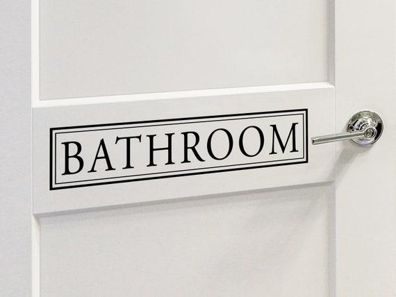 Bathroom Door Decal, Bathroom Door Decals