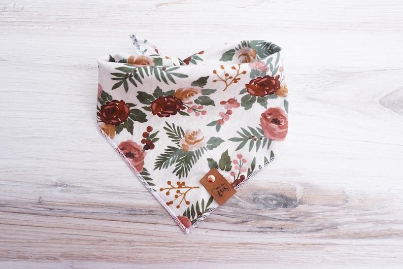 Boho Floral Dog Scarf Tie On
