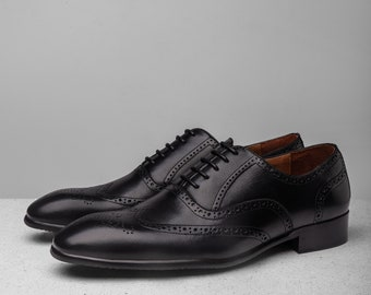 Men's Oxford Dress Shoes Handmade shoes Mix Brown custom | Etsy