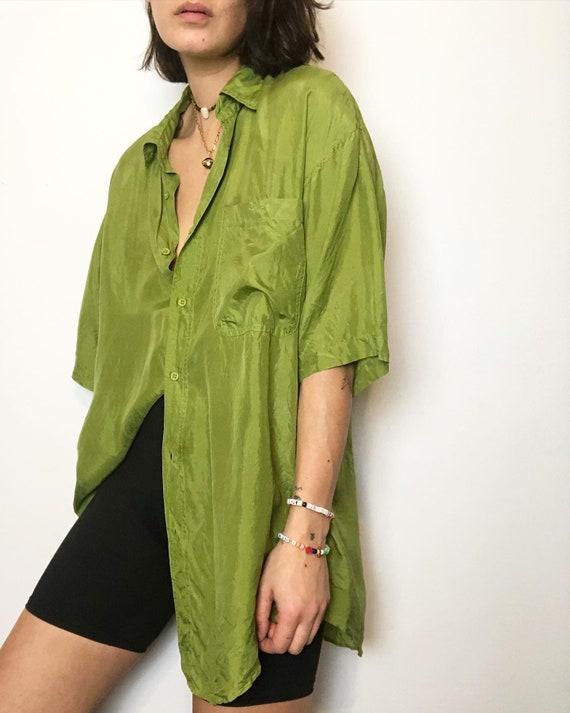 Vintage 100% silk paper thin blouse