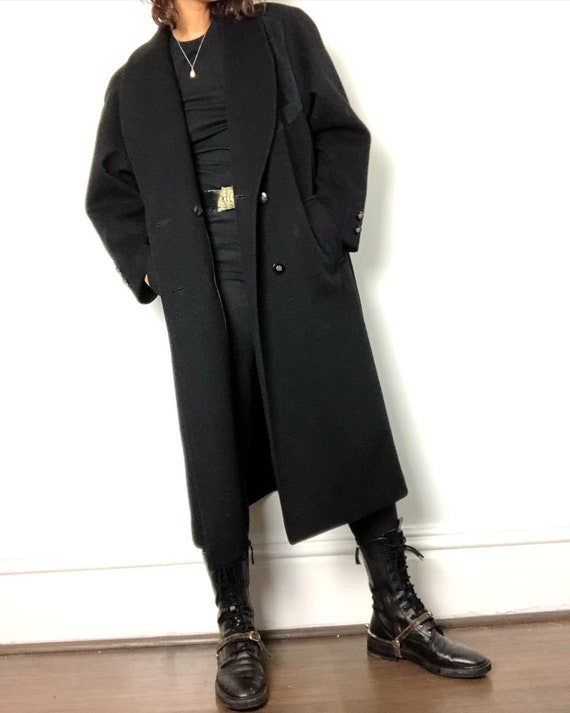 Vintage 100% wool suede detail sister coat