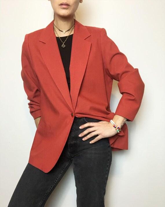 Vintage textured classic minimalist blazer