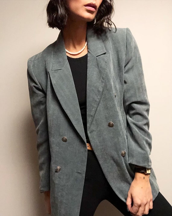 Vintage Tweed Puff Sleeve Cropped Jacket