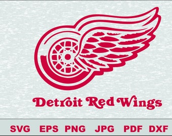Detroit Red Wings Svg Vector Cut File