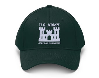 8fa920becc7 Us Army Corps Of Engineers Embroidered Unisex Twill Hat