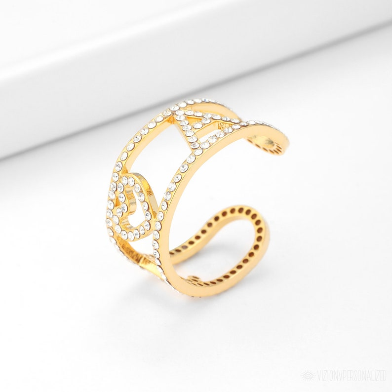 Custom Letter Ring Gold Filled Ring Initial Ring Personalized Initial Ring Personalized Signet ring Dainty Initial Heart Ring