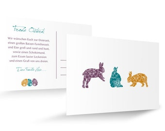 """Easter card """"three times Beautiful"""""""