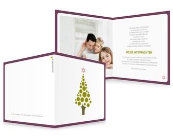 """Christmas card """"Kugelbaum"""""""