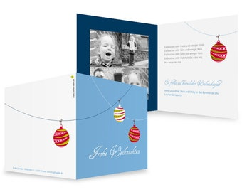 """Christmas card """"round and colourful"""""""