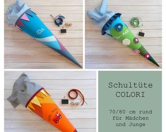 School bag 70 cm round | Colori - Girl Boy - Desired Colors - Custom To Order