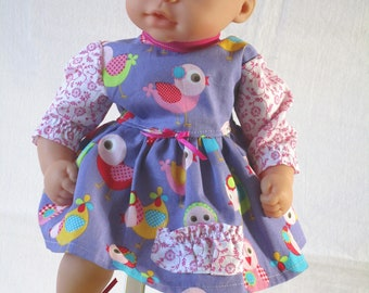 Doll dress with panties 35-36 cm