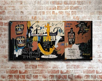 """Jean-Michel Basquiat /""""The Nile/"""" HD print on canvas large wall picture 48x24/"""""""