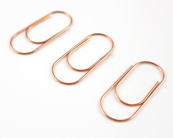 653ecd3b02 Extra Large Rose Gold Paper Clips, Planner Bookmark