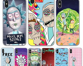 Rick And Morty Phone Case Cover For iPhone X 10 8 8Plus 7 7Plus 6 6S Plus  SE 5S Transparent Soft Silicon Protective Phone Cover phonecase ba11344c998