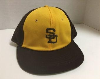 5cb2ee7e5 Vintage San Diego Padres Hat Snapback MLB Baseball Cap