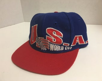 a272f5ea857 Vintage 1994 World Cup USA Hat Snapback Baseball Cap