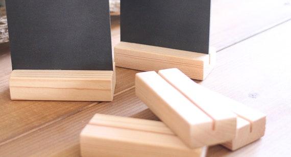Holzaufsteller Menükartenhalter Tischkarte