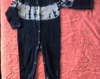 0afa7f5dfd Organic cotton shibori footie pajamas