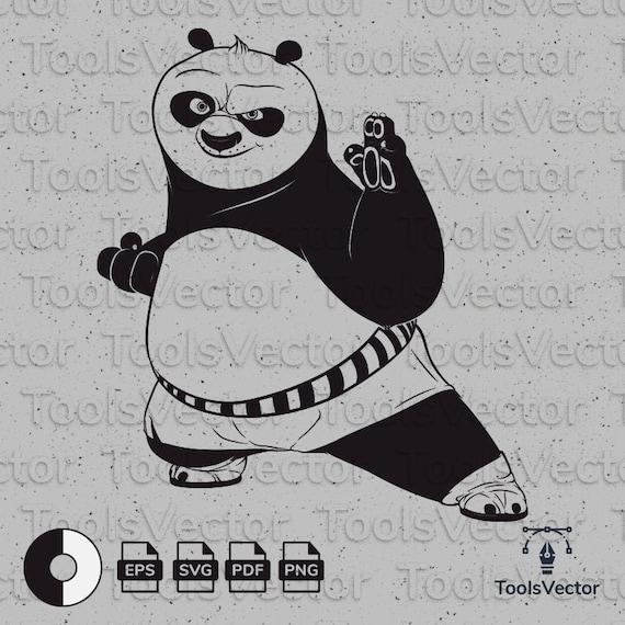 Kung Fu Panda Svg Kung Fu Panda Vector Kung Fu Panda Kung Etsy