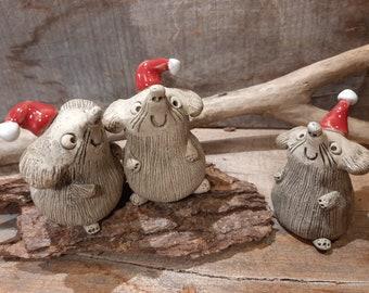 Ceramic Christmas Mice
