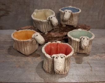 Egg cup sheep