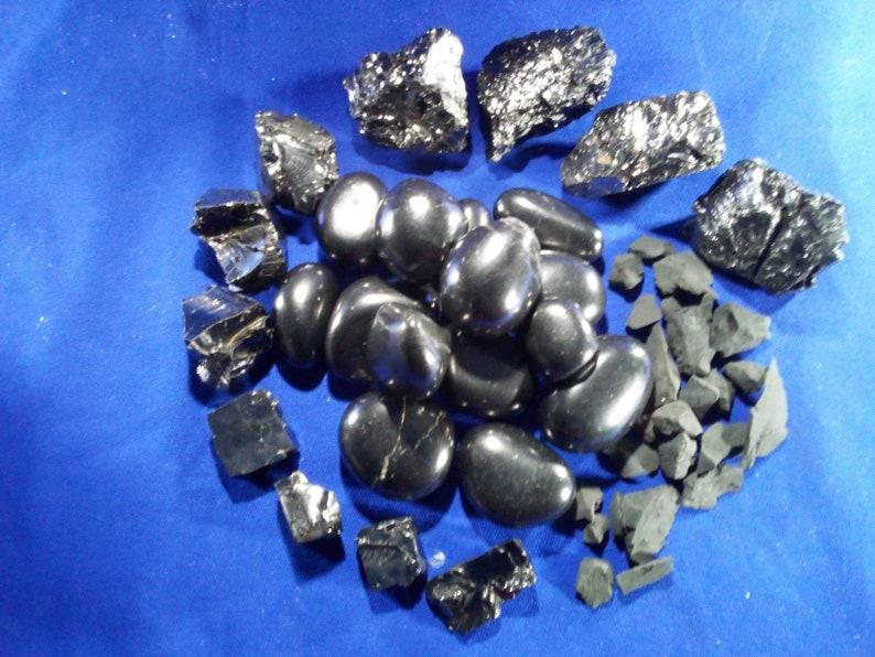 SHUNGITE STONES ELITE Raw Polished Powerful Genuine Stones image 0