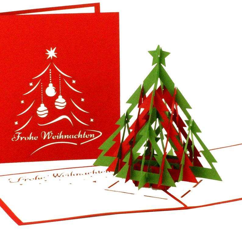 Ideen F303274r Weihnachtskarten.Pop Up Weihnachtskarte Tannenbaum Modern Frohe Weihnachten Weihnachtskarte Mit Weihnachtsbaum 3d Pop Up Karte