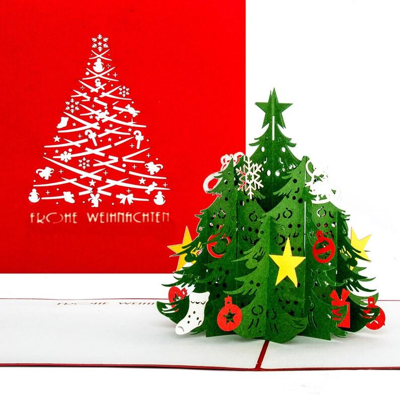 Weihnachtsbaum 3D Weihnachtskarte Pop Up mit Umschlag mit Weihnachtsbaum