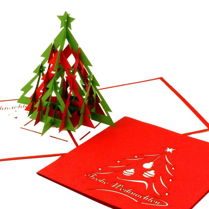 Frohe Weihnachten F303274r Kunden.Pop Up Weihnachtskarte Tannenbaum Modern Frohe Weihnachten Weihnachtskarte Mit Weihnachtsbaum 3d Pop Up Karte
