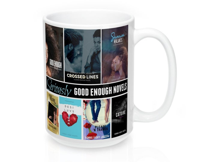 "Good Enough Novels ""All Covers"" 15Oz Mug"