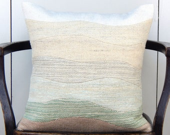Wave Throw Pillow Etsy