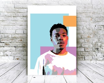 Chance Poster The Rapper Instant Download Printable Art Print Graphic Design