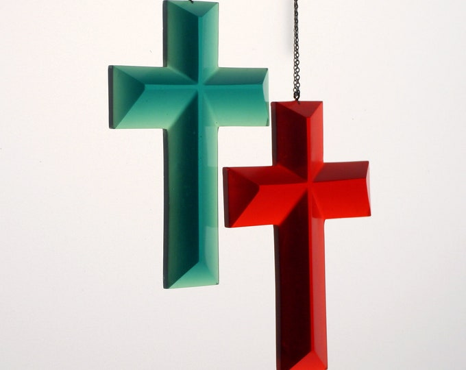 Translucent Resin Cross/Ornament