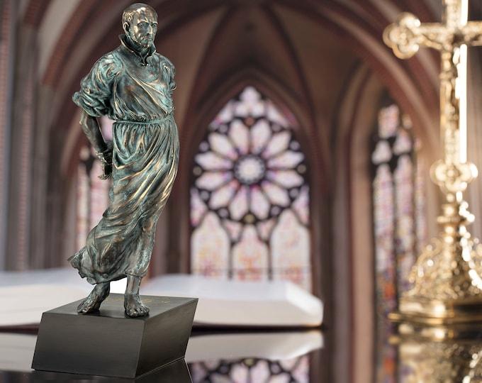"""15"""" High St. Ignatius of Loyola Statue in Bonded Bronze"""