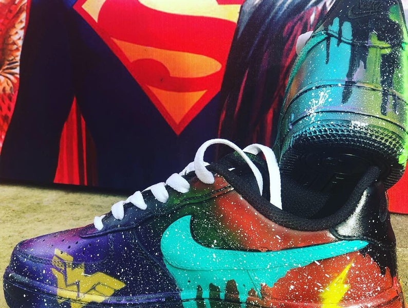 DC 'Justice league' ispirato Custom Nike Air Force 1 ZN8hzD0u