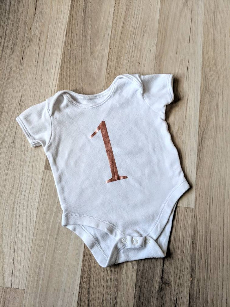 Baby/'s custom rose gold first birthday vest