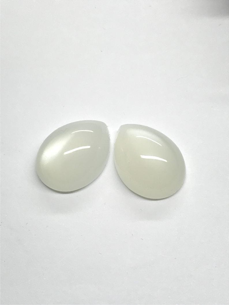 Cabochon pear-shaped 20.0  14.5  7.5 mm 29.44 ct. Moonstone pair India