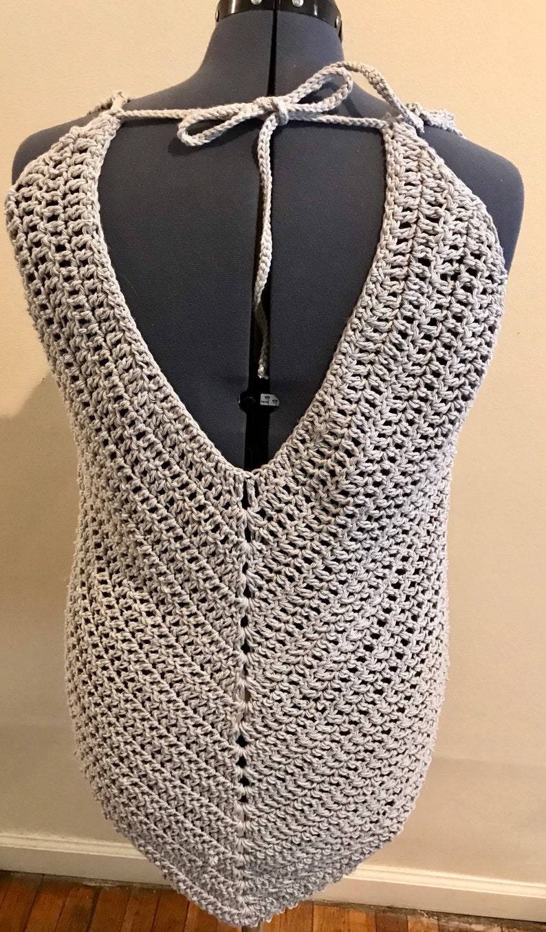 Crochet HalterTankCoverup