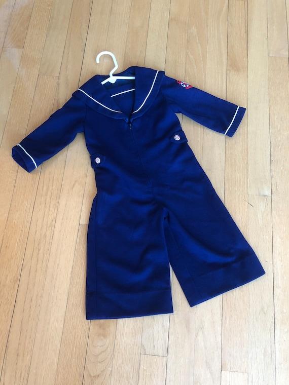 Adorable Vintage 1950s / 1960s Sailor Jumpsuit