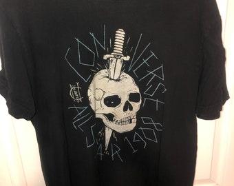 559d9ed634e Converse All Start Black Skull T-Shirt (M)