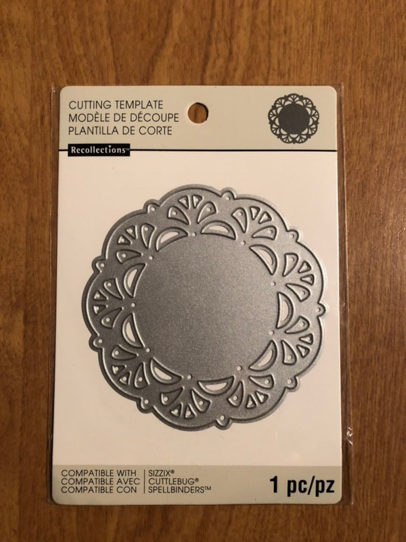 Recollections Doily Cutting Template Die 1 Piece 542688 Etsy