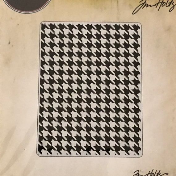 Houndstooth by Tim Holtz Sizzix Texture Fades Embossing Folder