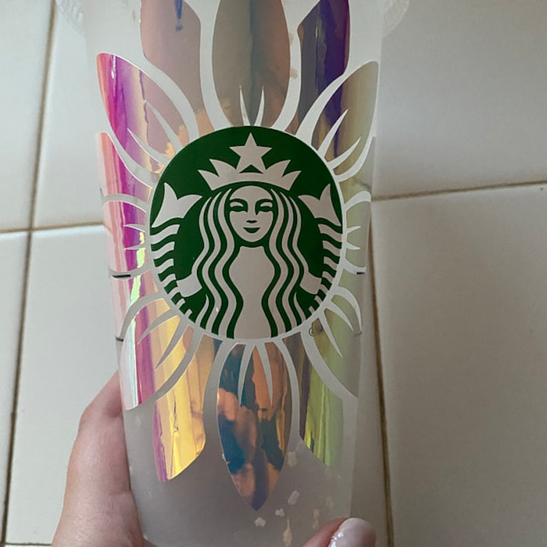 Download SUNFLOWER SPIN / Starbucks Cup / Reusable / Svg / Png / | Etsy