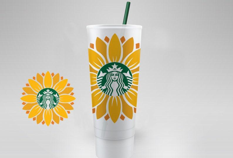 Download SUNFLOWER POWER FLOWER / Starbucks Cup / Reusable / Svg ...