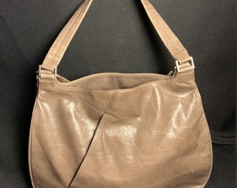9665870bc9 Hobo International Gold Metallic Leather Handbag with large Kiss Closure