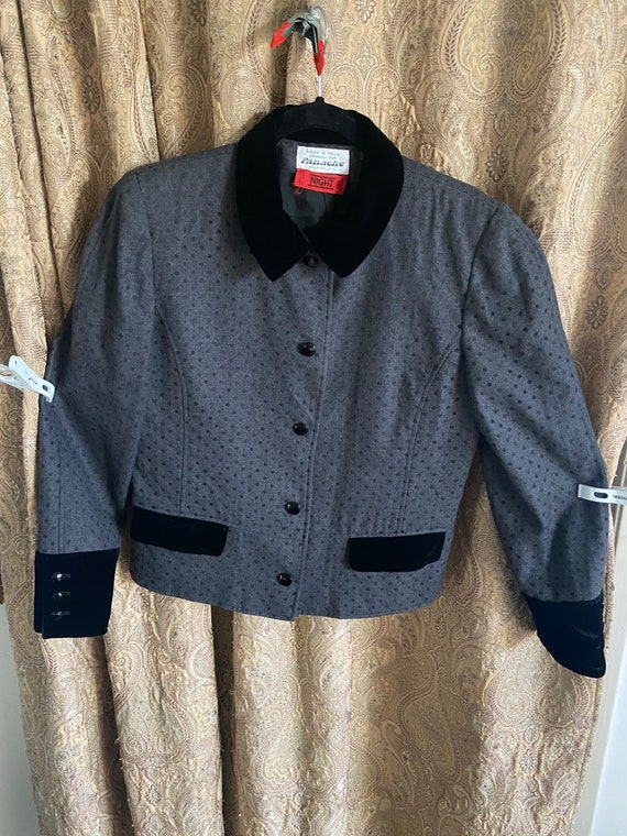 Vintage Valentino Night Women's Jacket Blazer Gray