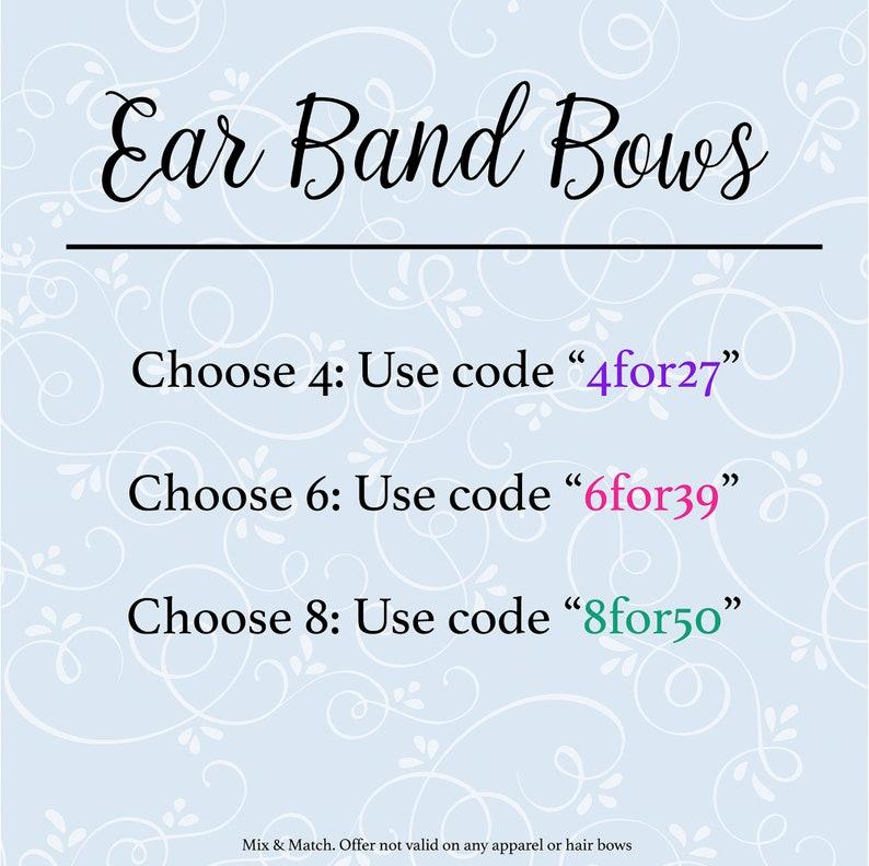 Sleepytime Tea Ear Band Bow