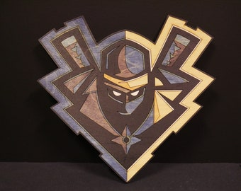 ninja twitch fortnite inspired laser art - masque nomade fortnite papercraft