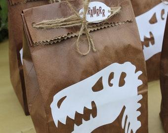T Rex Favor Bag Dinosaur Party Birthday Decoration